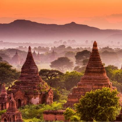 Zona archeologica di Bagan in Birmania