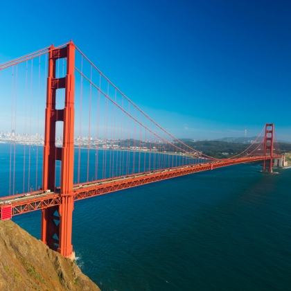 Veduta aerea del Golden Gate di San Francisco
