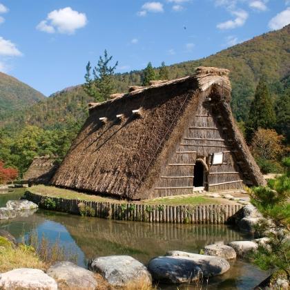 Il tradizionale villaggio diShirakawa-go in Giappone